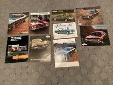 Vintage Lot Car Brochures Camaro, nova, falcon, Corvair, ETc 1940's - 1970's