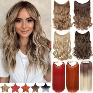 Secret Halos Wire in Hair Extensions Hidden Head Band One Piece Thick as Human