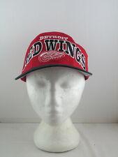 Detroit Red Wings Hat (VTG) - Oversize Script by Starter - Adult Snapback