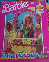 Spears Games Barbie Tropical 100 Piece Jigsaw Puzzle 1991
