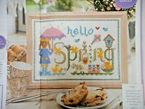 SPRING SAMPLER, EASY TO STITCH CROSS STITCH CHART. SELLING FOR CHARITY 🎁