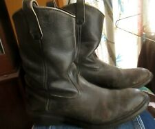 12D 12 D VTG 80s 90s Red Wing Black Patina Leather Pull Up Boots MADE IN USA