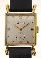 Minerva Art Deco Design Orologio da polso in massello 18ct GOLD 40 anni molto raro