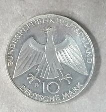 ALEMANIA año 1972 D. 10 Marcos Plata. OLIMPIADAS Serie II. Peso 15,54 gr.
