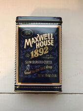 "MAXWELL HOUSE TIN BOX 1892 Slow Roasted Coffee 6 x 3.5 x 2.5"""