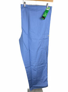 New Fundamentals Blue Nurse Scrub Uniform Pants Size 3 XL Free US Shipping