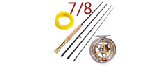 SOUGAYILANG: Freshwater Saltwater Fly Rod Reel & Line Fishing Combo 7/8 - 8.86ft