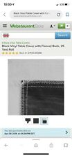 2X  25 Yard Roll Black Vinyl Table Cover with Flannel Back
