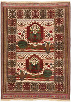 """Vintage Hand-Knotted Carpet 4'9"""" x 6'8"""" Traditional Oriental Wool Area Rug"""