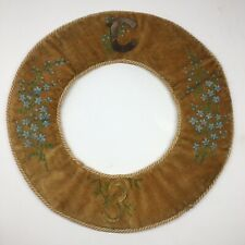 Antique Victorian Sewing Pin Whimsy - Hand Painted Circle C E
