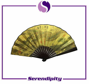 """Chinese Bamboo Folding Fan with Along the River on the Qingming Festival 13""""X23"""""""