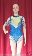 Da NeeNa L018  Wavy Lady Party Latin Vegas Stage Showgirl  Sequin Leotard S - M