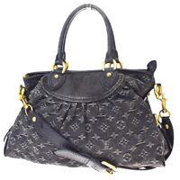 Authentic LOUIS VUITTON Neo Cabby MM 2Way Hand Bag Monogram Denim M95351 26MF562