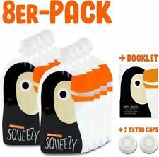 Happy Squeezy - Lot De 8 Gourdes Réutilisables, Gourde Compote Rechargeable Id