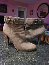 ENZO ANGIOLINI Women's  Brown Suede Stiletto Ankle Boots Size 8