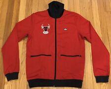 SAMPLE Adidas NBA Chicago Bulls Track Jacket Sz 50 Jordan Pippen Rose Free Ship