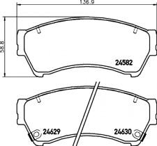 Textar Bremsbelagsatz VA Mazda 6 Mazda 6 Sport Mazda 6 Sport Kombi - 2458202
