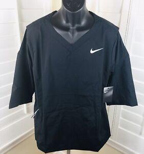 $85 Nike Baseball 897383 Black 3/4 Sleeve Pullover Windshirt Hot Jacket Mens XL