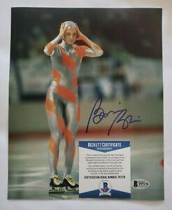 Bonnie Blair Olympic gold signed 8x10 photo coa beckett Bas #t97178 auto