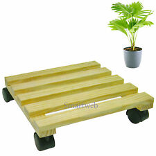 4 X Pflanzenroller Holz Pflanzentrolley Blumenroller Rollbrett
