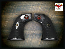 RUGER BLACKHAWK OLD VAQUERO SINGLE SIX GRIPS ~ BLACK DIAMOND MONTERREY RED STEER