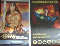 Arnold Schwarzenegger Eraser & Conan Der Zerstörer VHS