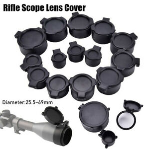 Rifle Scope Objective Lense Lid Quick Spring Protection Flip Up Cap Lens Cover-