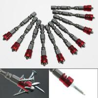 """1/2X Ph2 65mm 1/4"""" Hex Shank Drywall Magnetic Screwdriver Plasterboard Scre W1Z3"""