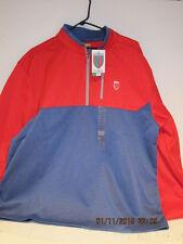 Nick Faldo Claret & Green 1/4 Zip Pullover Golf Jacket XXL, RED/BLUE, NEW W/TAGS