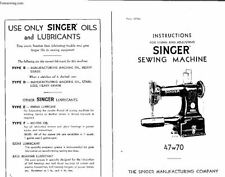 Singer 47w70 Darning Machine  INSTRUCTION MANUAL PDF