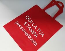 100 borsa shopper tnt personalizzata stampata un colore