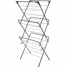 3 Tier Clothes Airer Horse Winged Tall Tower Indoor Folding Dryer Laundry Rack