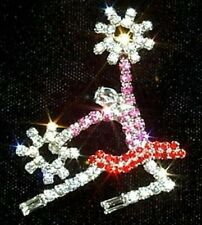 Cheerleader with Poms Rhinestone Pin 2 inch tall - Free shipping