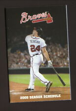 Atlanta Braves--Mark Teixeira--2008 Pocket Schedule--with Spring Training
