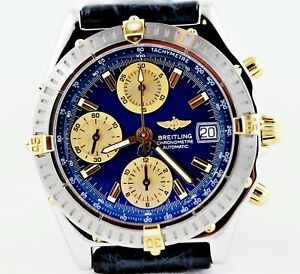 Breitling Chronomat GT-B13352 Blue SS &18K Gold Box/Papers - Private Collection!