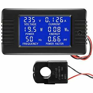 AC 80-260V 100A CRS-022B LCD Display Digital Current Voltage Power Energy Factor