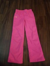 UNDER ARMOUR JOGGING PANTS GIRLS KIDS SIZE 6 PINK