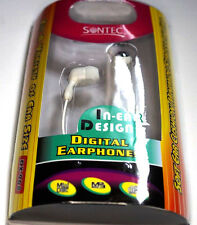 3X Sontec In-Ear Auriculares Para MP3 Reproductor Ipod Blanco Cabeza