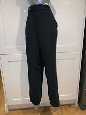 Michael Michael Kors New Black Gold Zip US14 Approx UK 16-18 Trousers Jogger