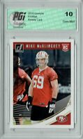Mike McGlinchey 2018 Donruss Football #352 Rookie Card PGI 10
