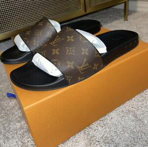 Louis Vuitton Waterfront Mule Monogram Print Sz. 14 LV Sz. 15 US Men Brown Shoes