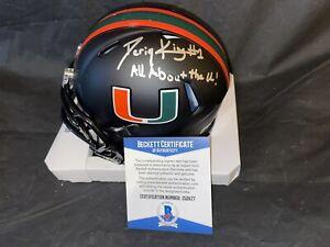 D'eriq King Signed Official University Of Miami Mini Helmet Star QB Beckett #2