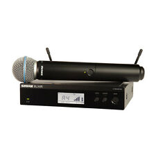 Shure BLX24R/B58 Wireless Rack Mount System w BETA 58A Handheld Vocal Microphone