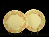"Set of 2 Metlox Poppytrail VERNON ROSE PINK Dinner Plates 10 3/4"" -USA"