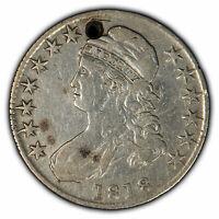 1818 50c Capped Bust Half Dollar - VF Details - SKU-H1004