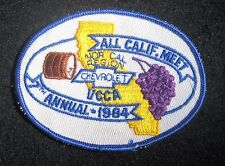 "CHEVROLET~1984 EMBROIDERED SEW ON ONLY PATCH VCCA CALIFORNIA MEET 4"" x 3"""