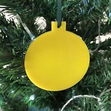 jaune boule en forme de décorations ARBRE DE NOËL, & vert ruban, Paquet 10