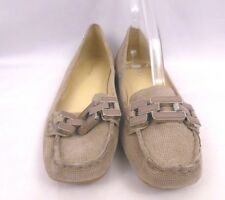 Calvin klein womens slip on flats beige pumps loafers suede shoes ricki size 6 M