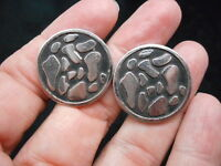 Authentic Vintage-1950's Silver Tone Antiqued Cufflinks
