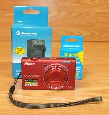 Genuine Nikon Coolpix S6200 10x Wide Optical Zoom ED VR Digital Camera *READ*